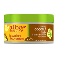 Alba Botanica - Hawaiian Body Cream - Coconut Milk