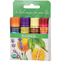 Badger - Classic Lip Balm Gift Pack - Set 2 (Green)