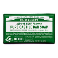 Dr. Bronner's - All-One Hemp Pure-Castile Bar Soap - Almond