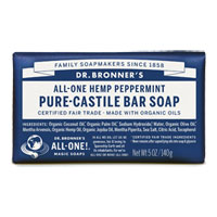 Dr. Bronner's - All-One Hemp Pure-Castile Bar Soap - Peppermint