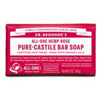 Dr. Bronner's - All-One Hemp Pure-Castile Bar Soap - Rose