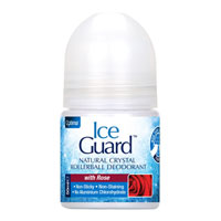 Ice Guard Natural Crystal Rollerball Deodorant - Rose